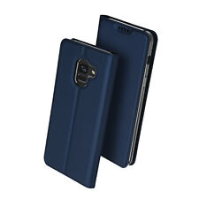 Cover Galaxy A8 Folio Flap WALET Dux Ducis Function Stand Midnight Blue