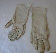 Mid Century Off White  Beige Ladies Dress Gloves by Shalimar 10 Inch GG