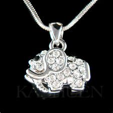 w Swarovski Crystal ~Holy Elephant~ Good Luck Lucky Animal Wish Necklace Jewelry