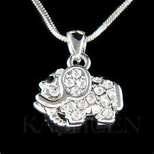 w Swarovski Crystal ~Holy Elephant~ Good Luck Lucky Animal Wish Necklace Jewelry