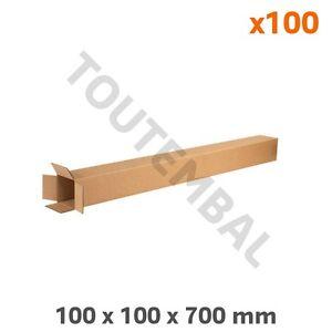 Tube carton d'expédition Forme rectangulaire 100 x 100 x 700 mm (par 100)