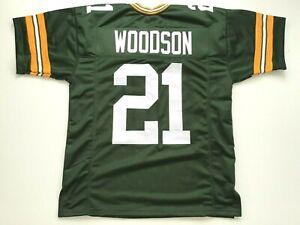 UNSIGNED CUSTOM Sewn Stitched Charles Woodson Green Jersey - M, L, XL, 2XL