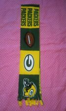 NFL FLEECE  SCARF GREEN BAY PACKERS APPROX 60 x 6 inches  UNISEX MULTI- COLOR