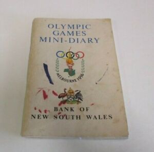 Olympic Games Mini-Diary: Melbourne 1956 - Bank of New South Wales - 80 Pages
