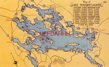MAP OF LAKE WINNIPESAUKEE - Largest lake in New Hampshire - list of 21 islands