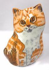 Cats Ceramic Vase by Nina Lyman Orange & White Tabby Cat Home Decor