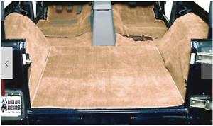 Jeep Wrangler TJ 1997-2006 Premium Interior Carpet Rug Mat Kit 6pcs Honey Cream
