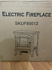 Electric Fireplace Heater 20� Black New Open Box