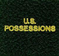 Scott LABEL LB092 For US Possessions Green Album Stamp Binder Gold Lettering NEW