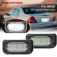 Pair Car LED License Plate Number Lights Lamp for Mercedes Benz W203 W209 C209