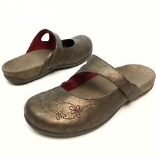 Orthaheel 27 Mary Jane orthotic Mules 9 Eu40 bronze embroidered Floral Comfort