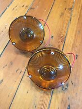 (2) NOS Black Signal Stat 26x Amber Lens Lights-Travel Trailer,Tiny House