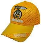 Shriners Baseball Cap Gold Shriner Hat Sphinx Crescent Scimitar Masonic Mens