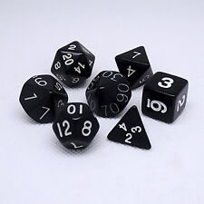 Personalized dungeons and dragons polyhedral role playing dice lot black 7pcs