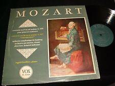 MOZART°PIANO CONCERTO  INGRID HAEBLER  Lp Vinyl~USA Press(1955)  VOX PL 9390