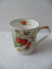 Queen's Fine Bone China Strawberry Pattern Mug Cup ~ Made in India
