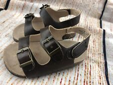 Sandals Toddler Baby 12-18 Months Double Strap Brown Shoes Old Navy