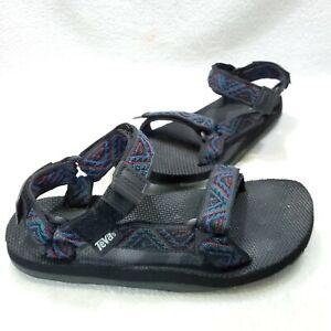 TEVA Athletic Sport Sandals Aztec Hook Loop Adjust Hiking Men Size 10 M Black