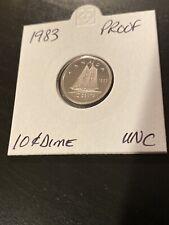 SALE! 1983 Canada Proof UNC 10 Cent Dime