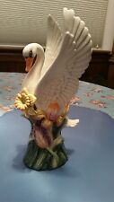 Fitz & Floyd Vase With Swan - Nature'S Treasure - Only $70 & Free Shipping- Rare