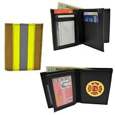 Bunker Gear Wallet Firefighter Turnout Material Bifold Fire Dept Medallion Nomex