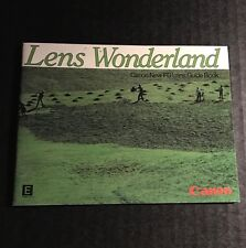 Retro Vintage Canon Lens Wonderland - FD SLR Camera Lens Guide Book Brochure