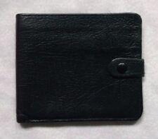 Wallet Vintage Leather BLACK BI-FOLD CARDS NOTES 1970s 1980s