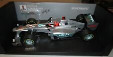 F1 1/18 MERCEDES W03 SHOWCAR SCHUMACHER 2012 MINICHAMPS