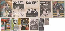 FUN BOY THREE : CUTTINGS COLLECTION -interview adverts-