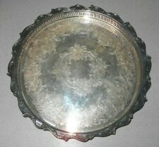 Vintage Webster Wilcox International Silver Company Serving Tray Joanne IS 7272G