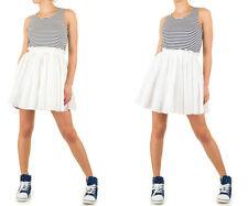 Markenlose Mini-Damenkleider mit U-Ausschnitt für die Freizeit