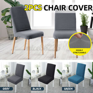 2PCS Stretch Spendex Dining Chair Cover Seat Protective Wedding Home Party Decor