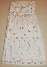 $280 New Womens Tocca White Sleeveless Embroidered Dress with Red Beads SZ 4