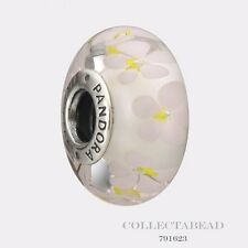 Authentic Pandora Sterling Silver Murano Field of Daisies Bead 791623