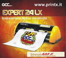 PLOTTER DA TAGLIO GCC EXPERT 24-LX con vero lettore ottico crocini! AAS II nuovo
