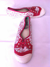 Keen Vulcanized Women's Shoes Red White Low Top Lace Up Vegan Sneakers Size 8.5