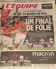 L'EQUIPE*13/5/2018*UN FINAL DE FOLIE=MONACO/ST ETIENNE*ASM*BREIZH*100% MARSEILLE