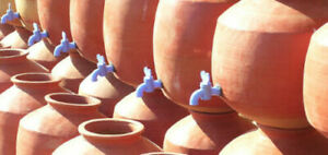 Terracotta Clay Water Storage & Dispenser Pot Tank Container