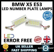 BMW X5 E53 1999 - 2003 WHITE SMD LED NUMBER PLATE LAMP LIGHT BULB UPGRADE UNITS