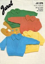 ~ Baby Knitting Pattern For Cute Cabled Jumper ~