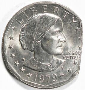 1979 S US Dollar Anthony $1 Straight Clip Error UNC #14683