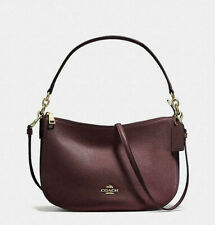 COACH Chelsea Pebbled Leather Small Crossbody Bag - Gold Oxblood Style No. 56819