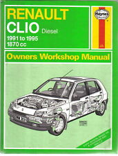 Renault Clio Diesel 1870cc 1991-95 inc. special editions Haynes Workshop Manual