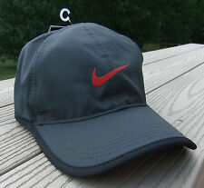 NWT NIKE Dri-Fit Featherlight 2015 Adult Adj Tennis/Running Hat-OSFM DARK GRAY