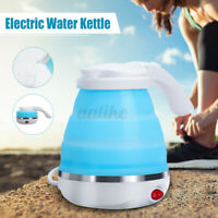 Electric Travel Silicone Foldable Collapsible Kettle Camping Water
