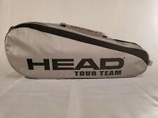 Head Tour Team Tennis Bag Silver and Black Dual Racquet