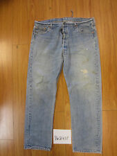 destroyed levi feather 501 USA grunge jean tag 42x34 meas 38x30.5 16241F