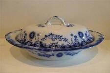 Antique Empire Ware Flow Blue Lidded vegtable Tureen