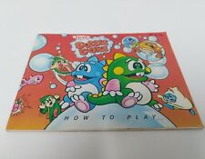 Bubble Bobble NES Replacement Manual Only AS IS
