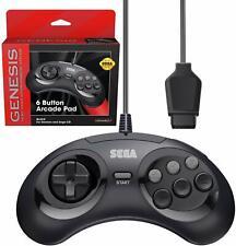 Retro-Bit Official Sega Genesis Controller 6-Button Arcade Pad - Black